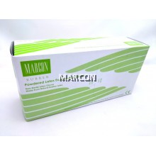 Marcon Rubber Powdered Latex Exam Gloves (5.0GM)