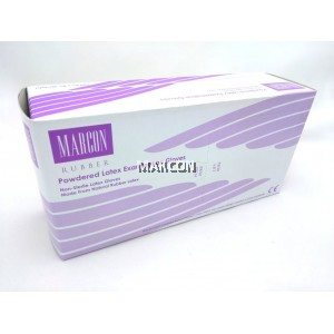 Marcon Rubber Powdered Latex Exam Gloves (5.5GM)