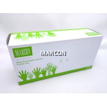 Marcon Rubber Powder Free Nitrile Exam Gloves (3.5GM)